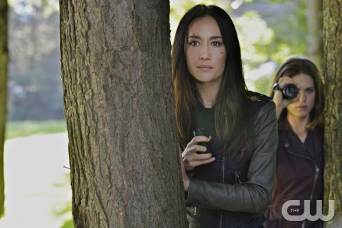 "Nikita -- ""Canceled"" -- Image NK406b_0078 -- Pictured (L-R): Maggie Q as Nikita and Lyndsy Fonseca as Alex -- Credit: Sven Frenzel/The CW -- © 2013 The CW Network. All Rights Reserved"