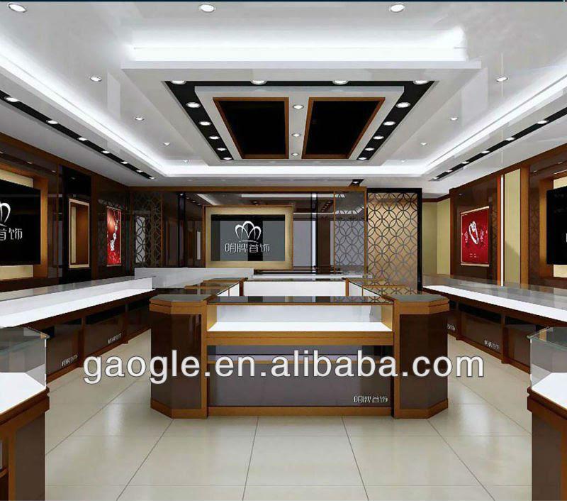 High Quality Custom Fashion Shop Decoration Jewellery Store Layout