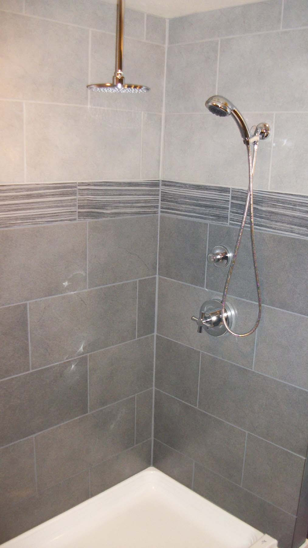 Wonderful shower tile and beautiful lavs! | Rose ...