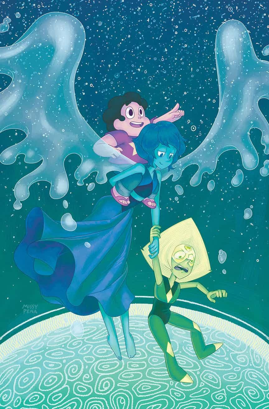 """There's Lapidot on the cover of the next Steven Universe comic!It's so beautiful :') """"Source: http://www.cbr.com/boom-studios-july-2017-solicitations/ """""""