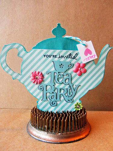 teal teapot invite