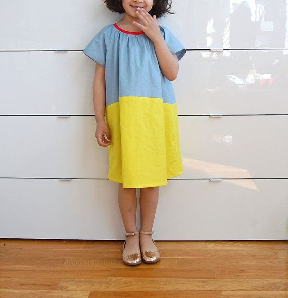triple sorbets : color blocked gathered dress