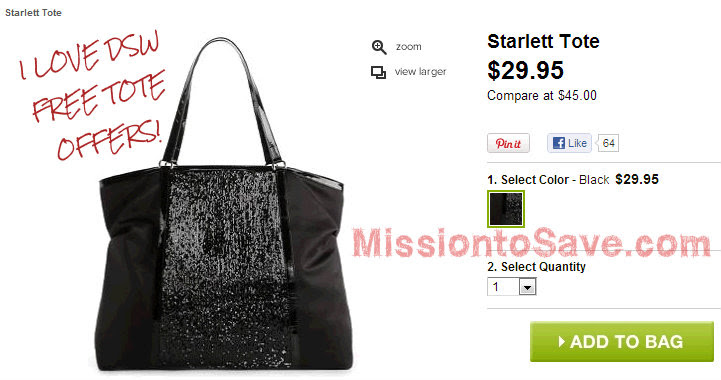 DSW FREE BAG: Get Starlet Tote Starting Today, 1018!