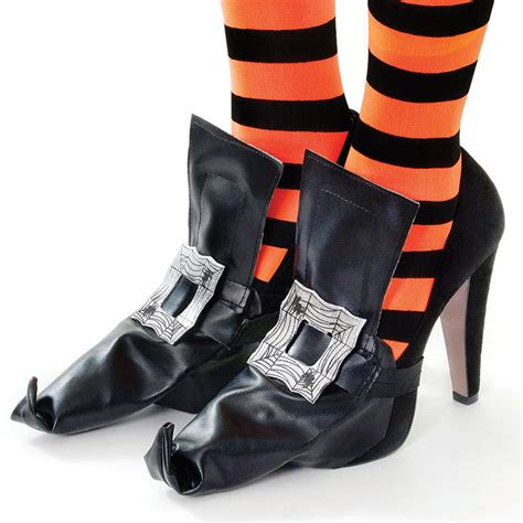wicked witch shoes shoe boot covers pointy buckle pvc