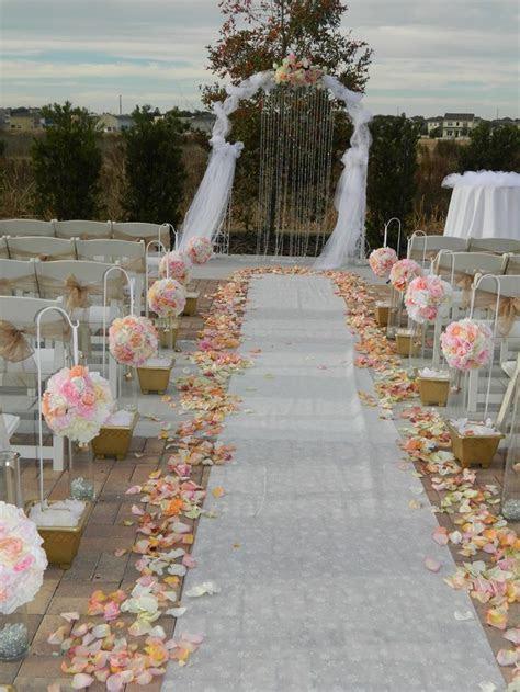 69 Outdoor Wedding Aisle Decor Ideas   ch cell   Wedding