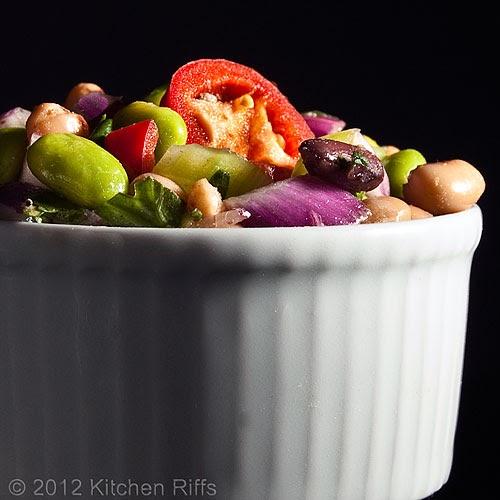 Kitchen Riffs: Healthy Edamame and Bean Salad
