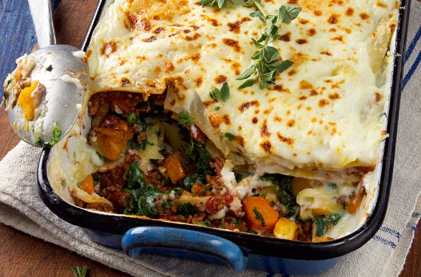 Quorn, squash and spinach lasagne recipe - goodtoknow