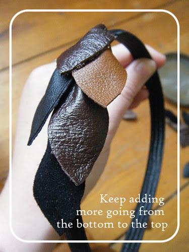 Scrappy leather headband 8