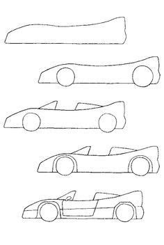 How to Draw Tutorials | Drawings, Easy drawings, Car drawings