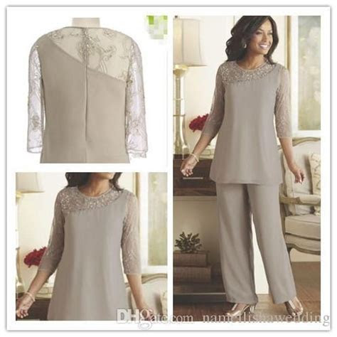 Silver Mother of the Bride Groom Pants Suits Cheap Plus