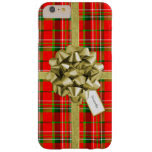 Christmas Gift Wrapped in Red Tartan and Ribbons Barely There iPhone 6 Plus Case