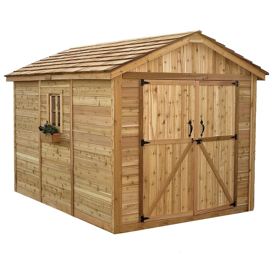 Shop Outdoor Living Today Gable Cedar Storage Shed (Common ...
