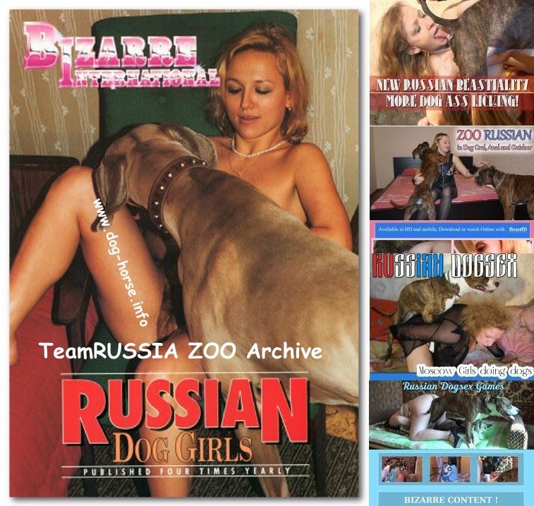 Russian dog sex