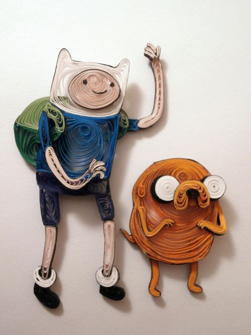 Adventure Time Quilling by Aimie Holdorf