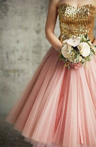 Pink and Gold Flower Girl Dresses for 2015