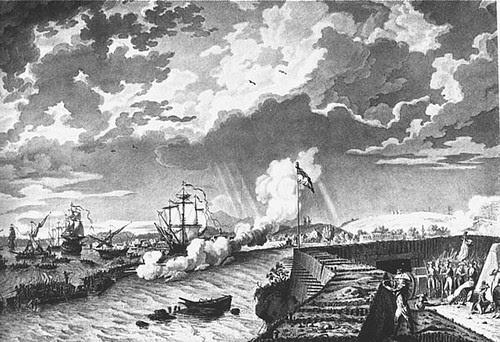 The Royal Navy bombards Toulon