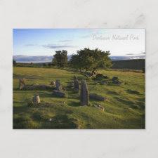 Ancient Dartmoor Settlement postcard postcard