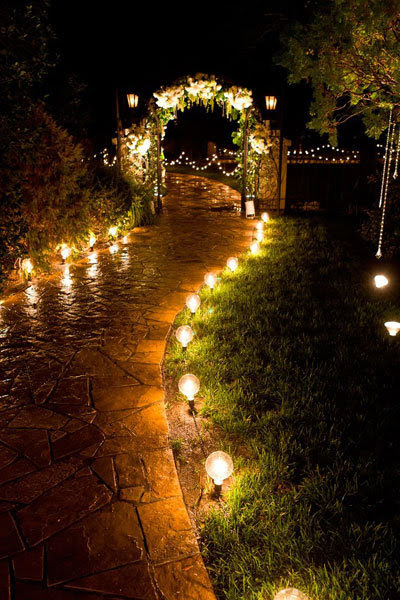 wedding walkway lights