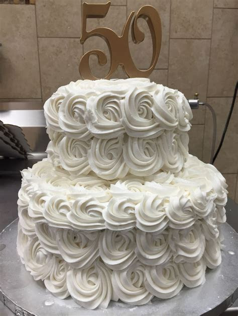 Shimmery white rosette tier cake I made at Walmart   Lizzy