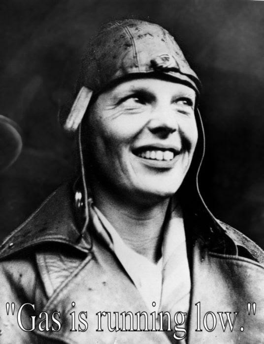 Last wrods by Amelia Earhart