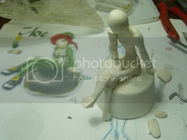 posed paper armature