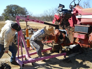 Positioning Farmall 806 Tractor Axle for Installation