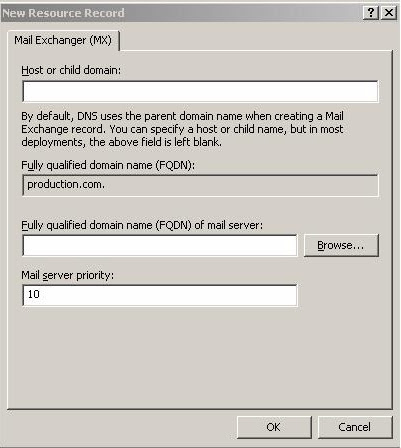 how to create ns record in dns windows 2012