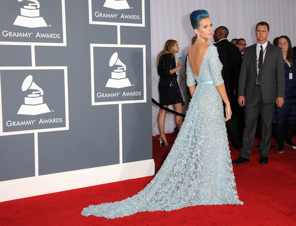 Singer Katy Perry arrives at the 54th Annual GRAMMY Awards held at Staples Center on February 12, 2012 in Los Angeles, California.