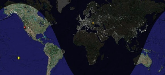 google operating system daylight map