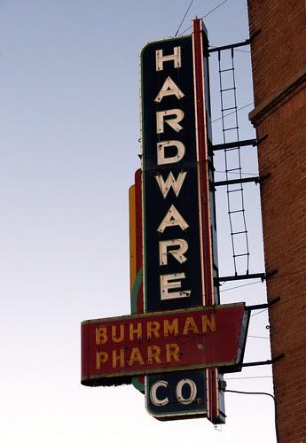 buhrman-pharr hardware co. neon sign