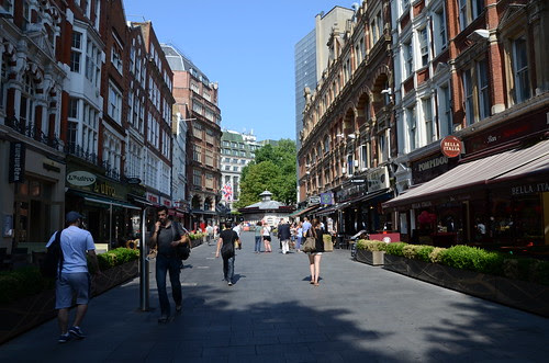The approach to Leicester Square