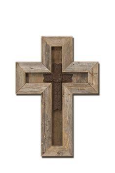 Wooden cross ideas on Pinterest