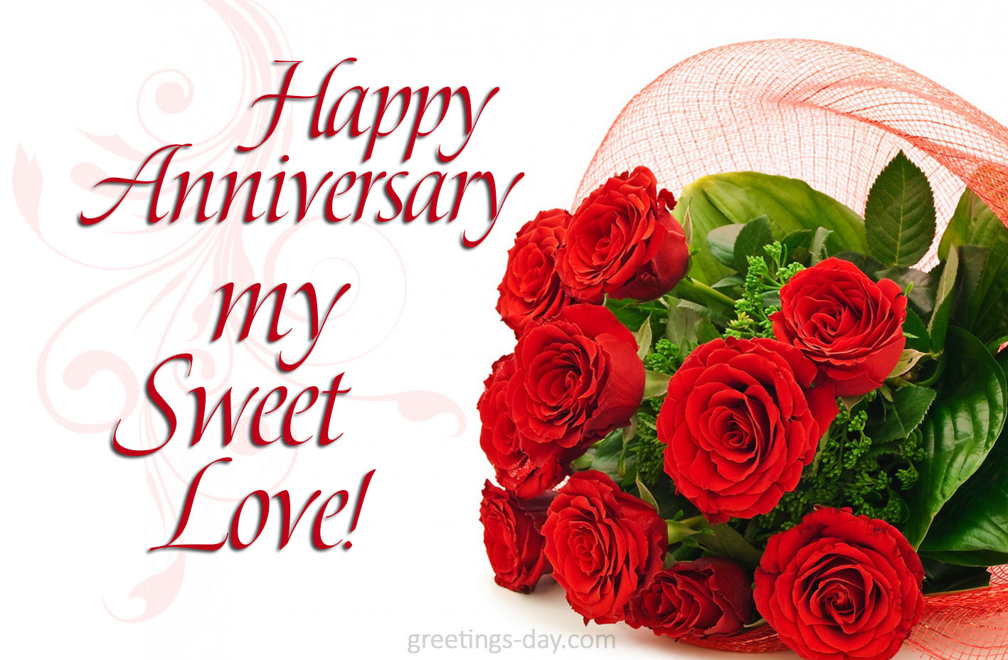 Greeting Cards For Every Day Happy Anniversary My Sweet Love