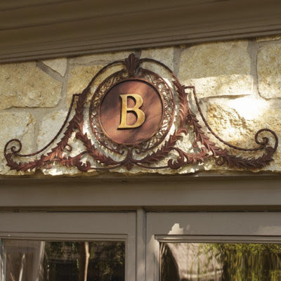 Monogrammed Palais Plaque - traditional - outdoor decor - - by ...