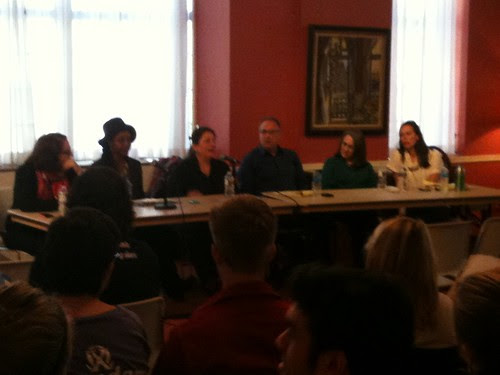 Panel of writers, Northwestern Univ. Writers' Festival
