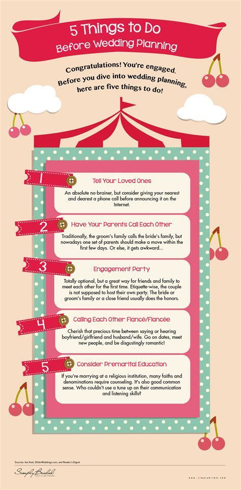 [Infographic] 5 Things You Need To Do Before Wedding