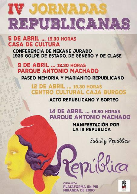 IV Jornadas Republicanas en Miranda de Ebro (Burgos)