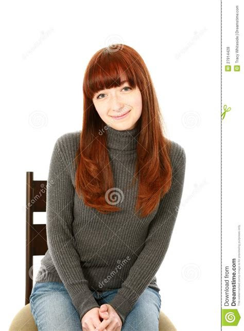 beautiful red hair teen girl royalty  stock