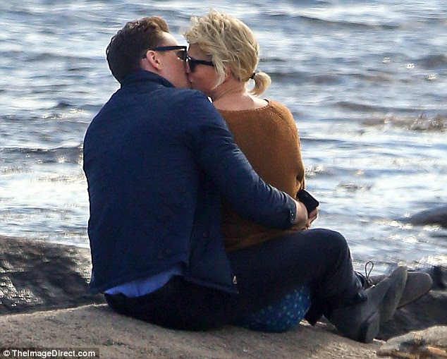 Debuting their romance: Tom and Taylor sent fans into overdrive last week when they were photographed kissing on Misquamicut beach near her home in Watch Hill, Rhode Island