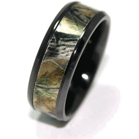 Men's Black Camo Wedding Ring   Wedding, Wedding ring and