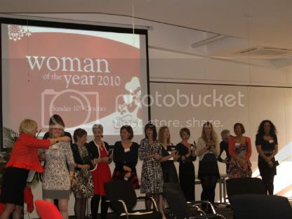 The finalists getting their checks Woman Of the Year 2010