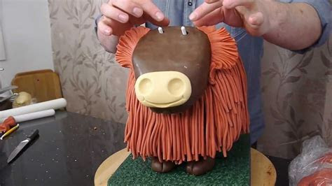 Highland Cow Cake Preview   Cake Decorating with Paul