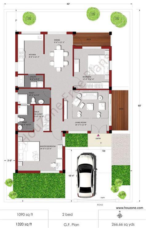 house plans  bhk house houzone
