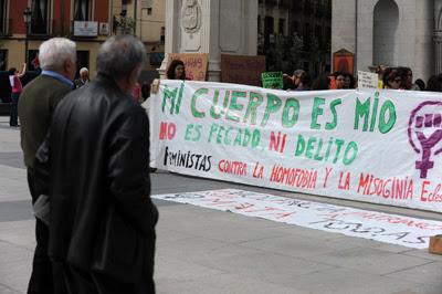 Manifestación feminista en Madrid, el pasado abril.-Fernando Sánchez