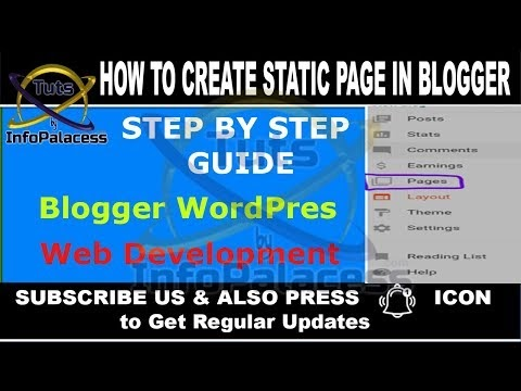 How to Create Static Pages and Add to Navigation Bar in Blogger
