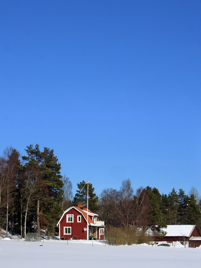 Blue sky at Ängshagen