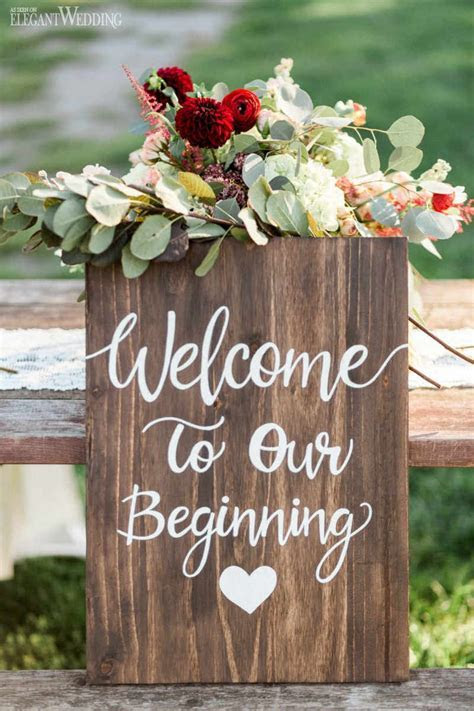 Wooden Wedding Sign, Vintage Wedding Decor, Victorian
