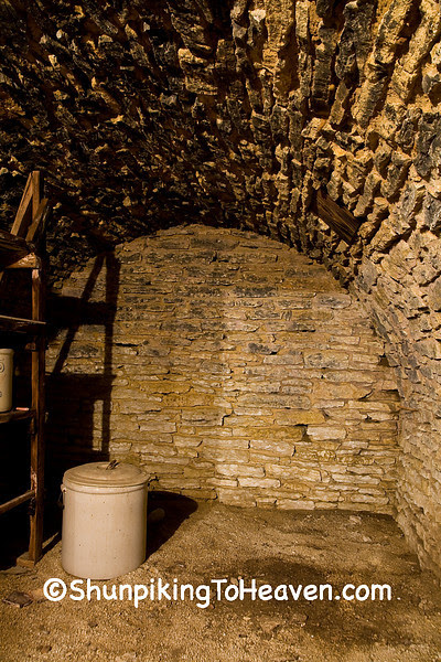 Root Cellar Connected to Drive-Through Stone Barn, Filmore County, Minnesota