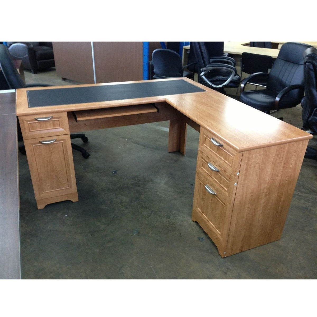 Scratch And Dent L Shaped Outlet Desk 60 Wide X 60 Deep X 30 High Office Furniture 4 Sale