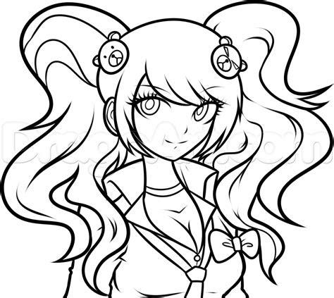 draw junko junko enoshima step  step anime
